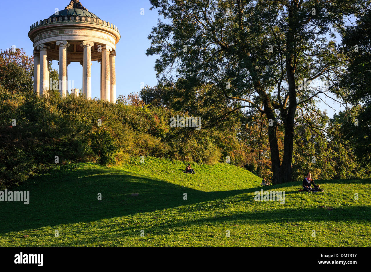 The Monopteros in Englischer Garten of Munich - Stock Image