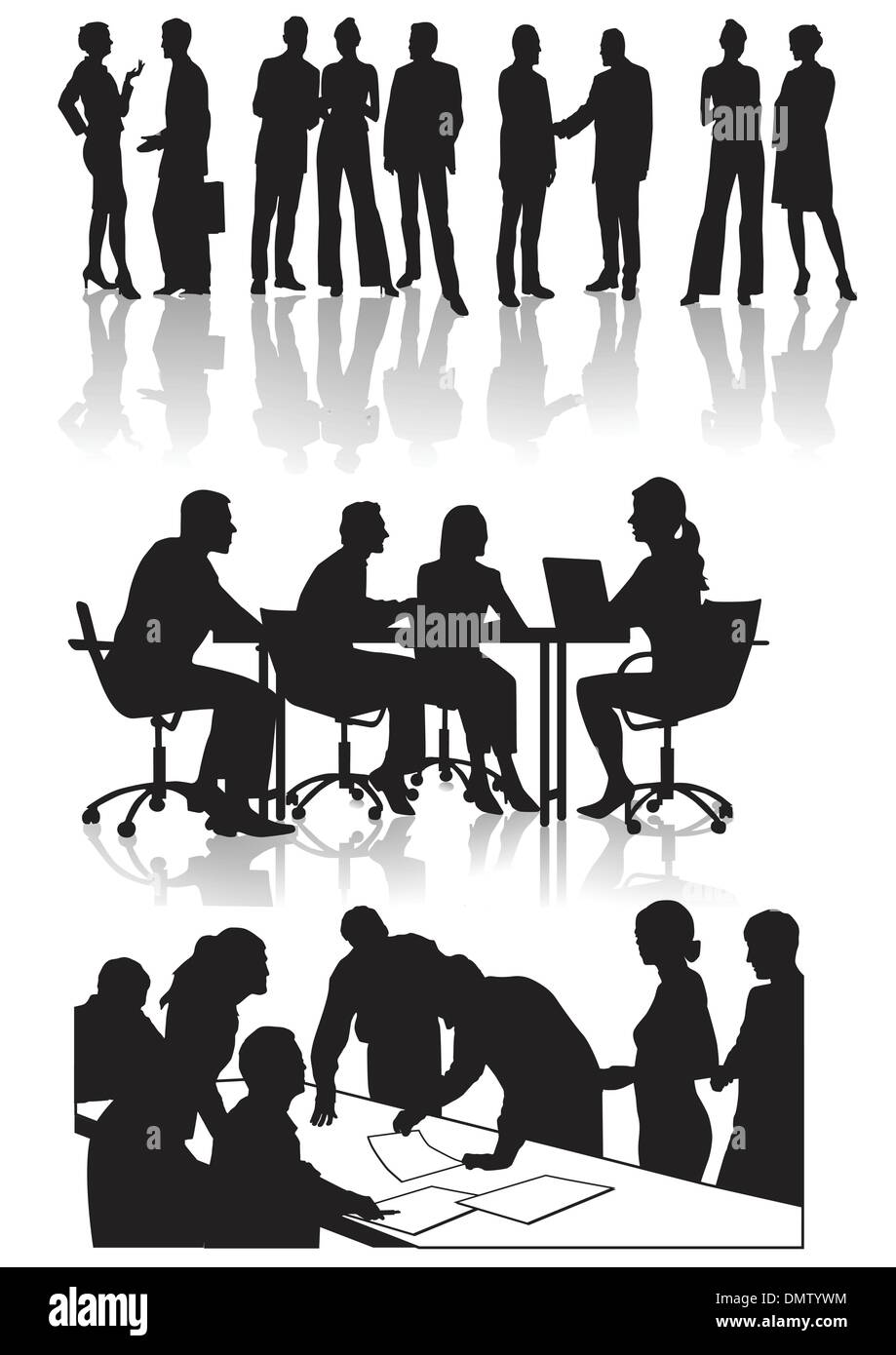 People in the office - Stock Vector