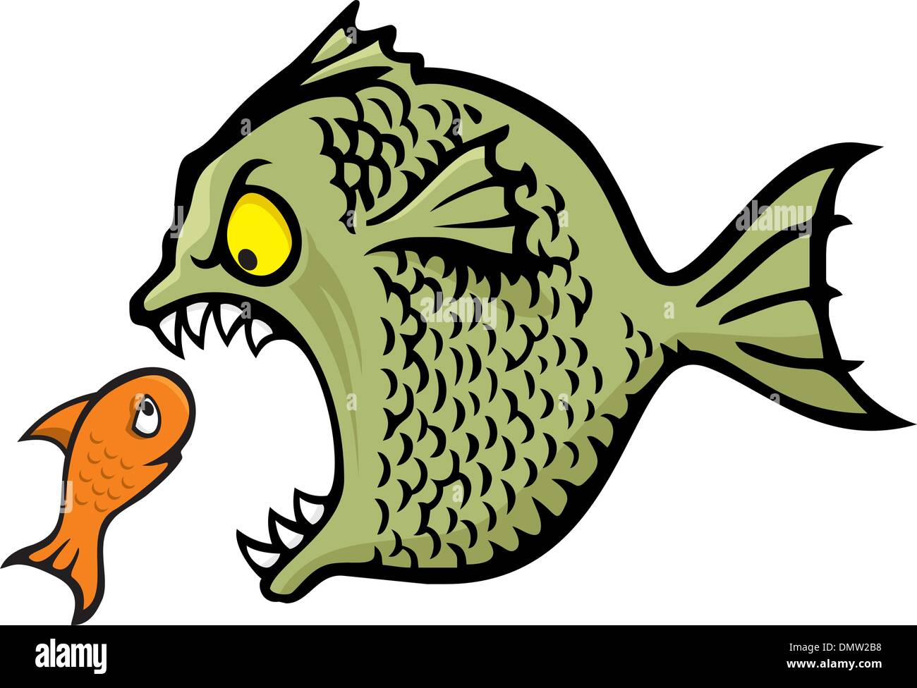 Bully fish - Stock Vector