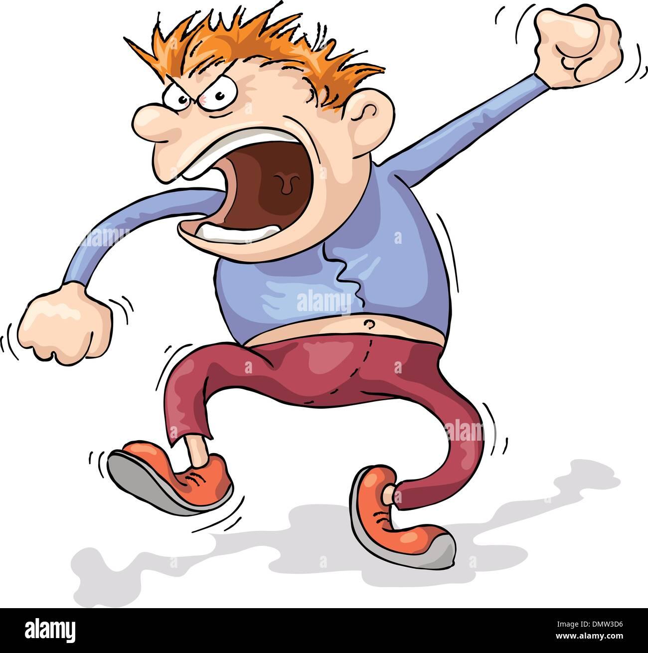 Angry Man - Stock Image