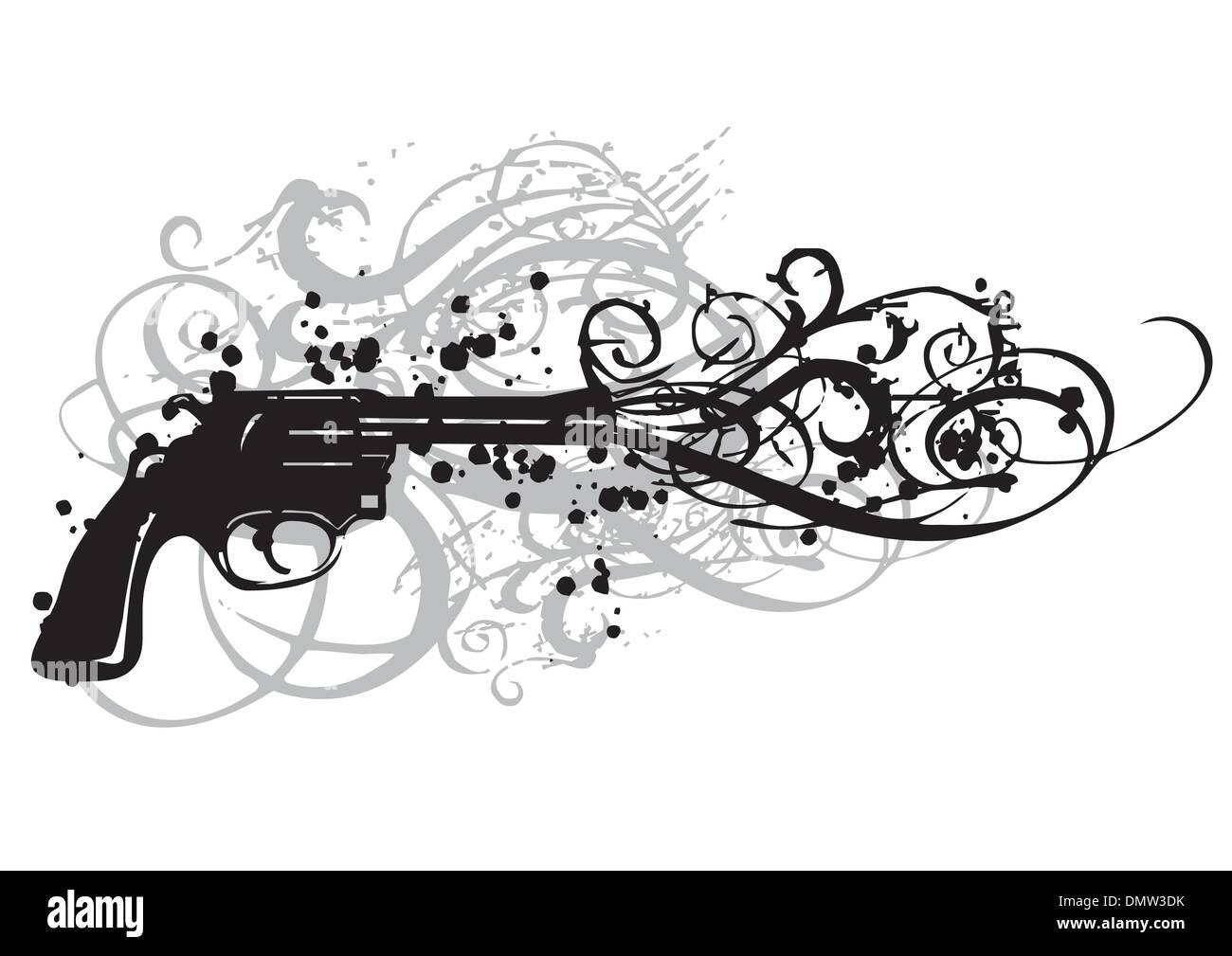 vintage gun - Stock Image