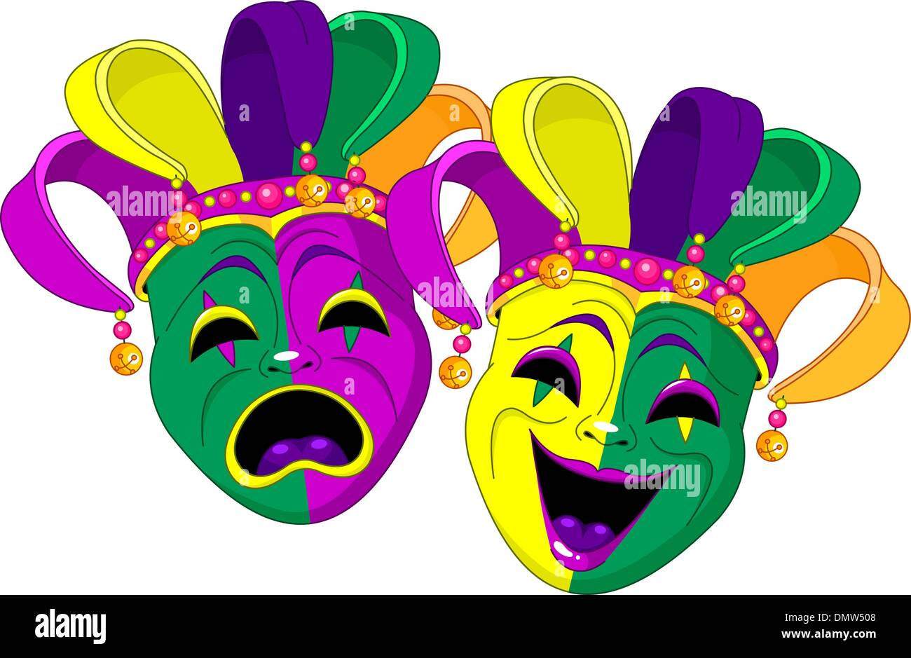 Mardi Gras Masks - Stock Vector