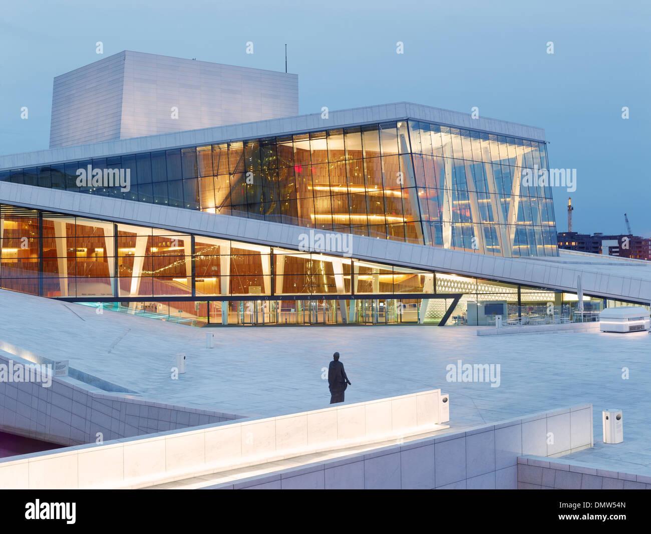 Operahuset, Oslo Opera House, Oslo, Oslo County, Eastern Norway, Norway - Stock Image