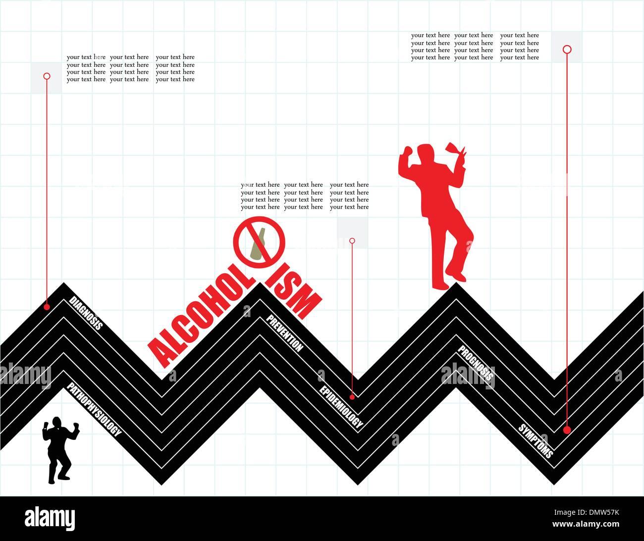 Creativity on Alcoholism - Stock Image