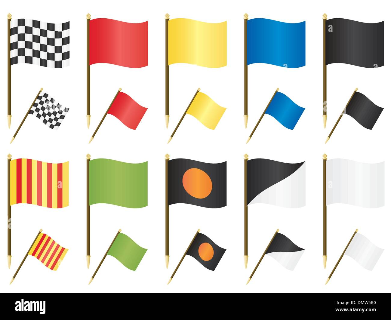 formula one flags - Stock Vector