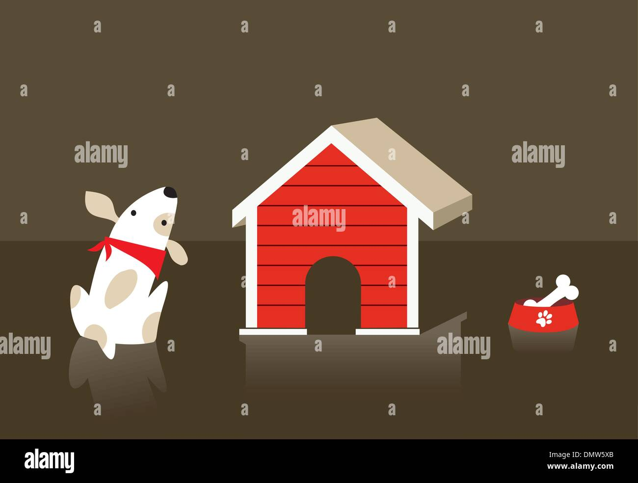 The dog and cat relation - Stock Image
