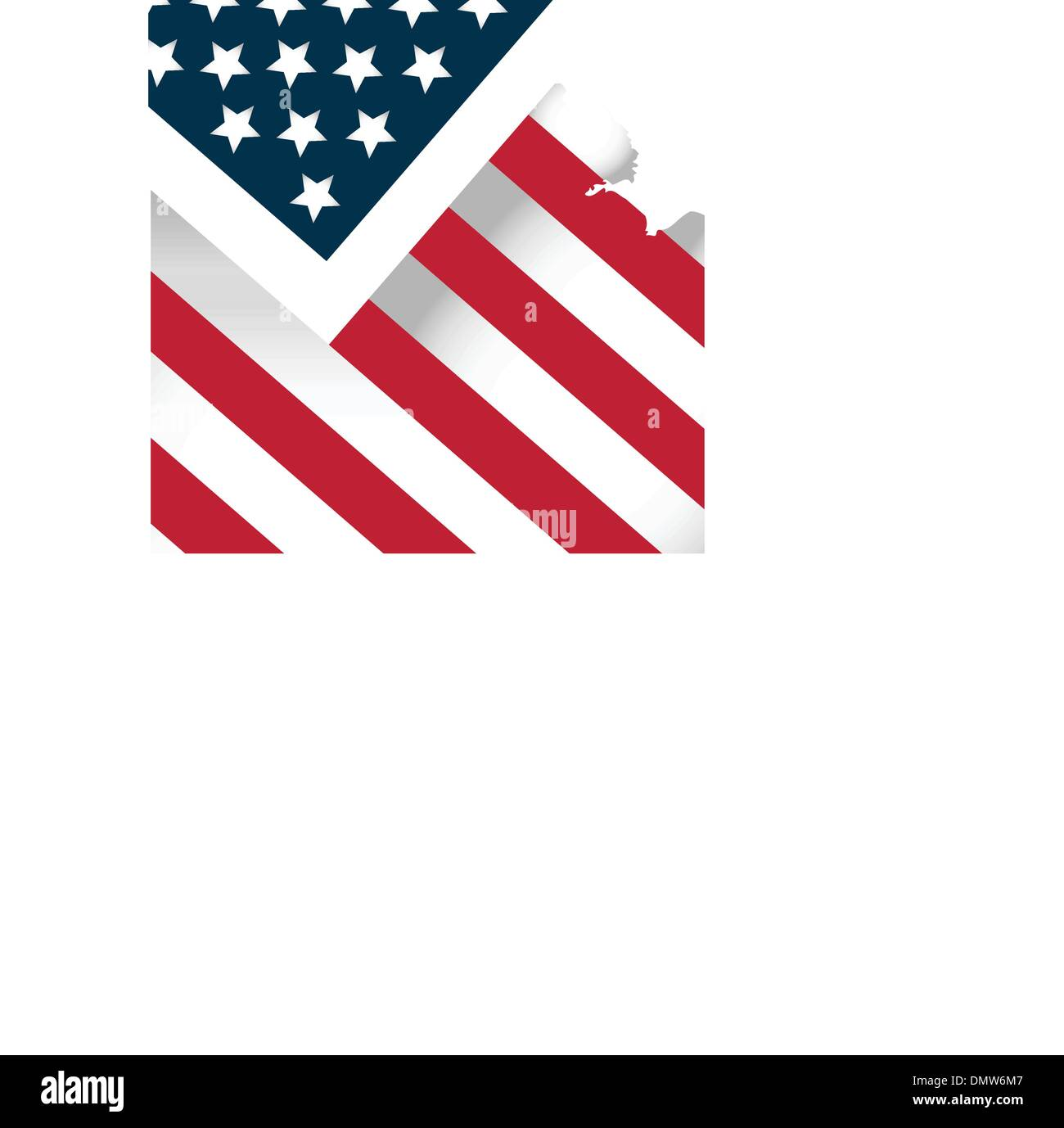american flag stylised background - Stock Vector