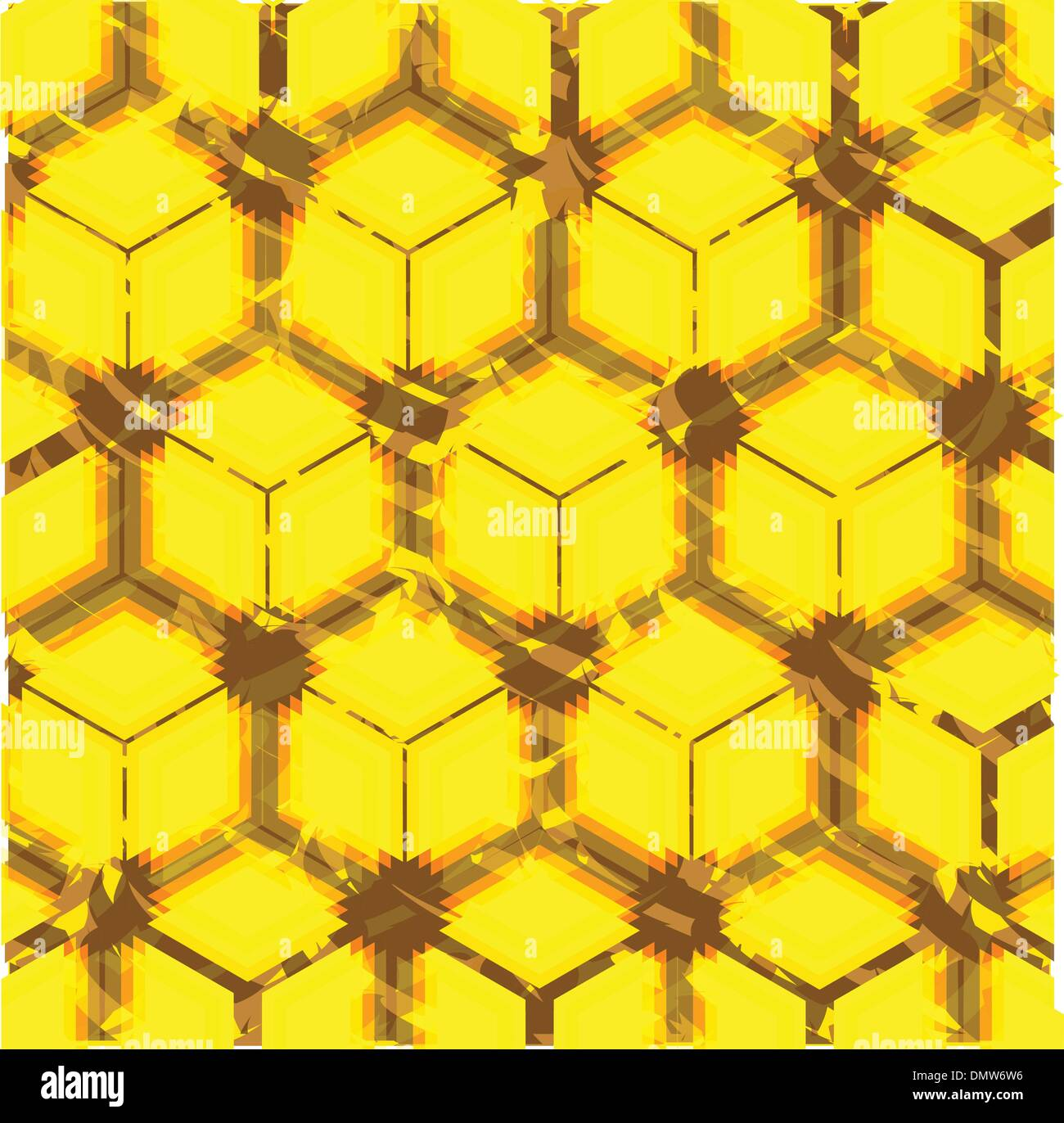 honeycomb stylised background - Stock Vector