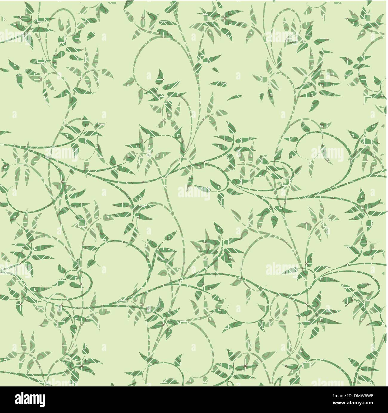 green leaves decorative background Stock Vector