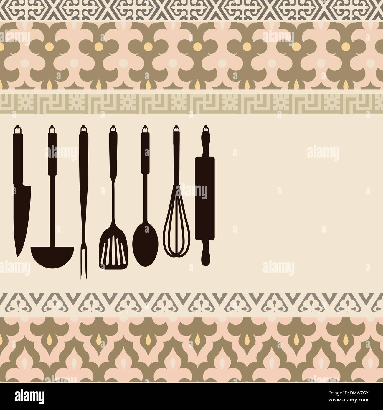 kitchen utensils - Stock Vector