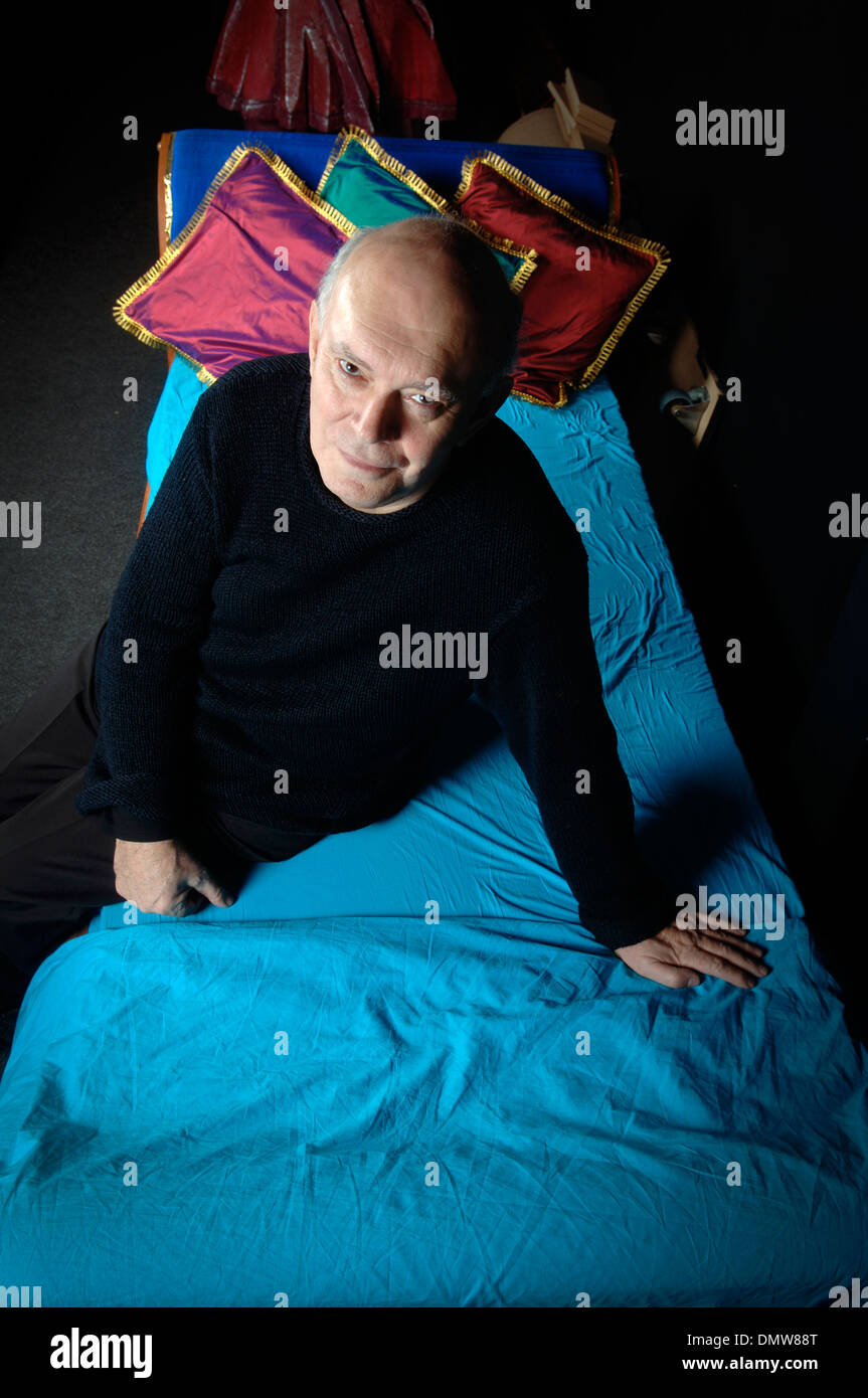Sir Alan Ayckbourn, CBE at the Stephen Joseph Theatre in Scarborough, UK. - Stock Image