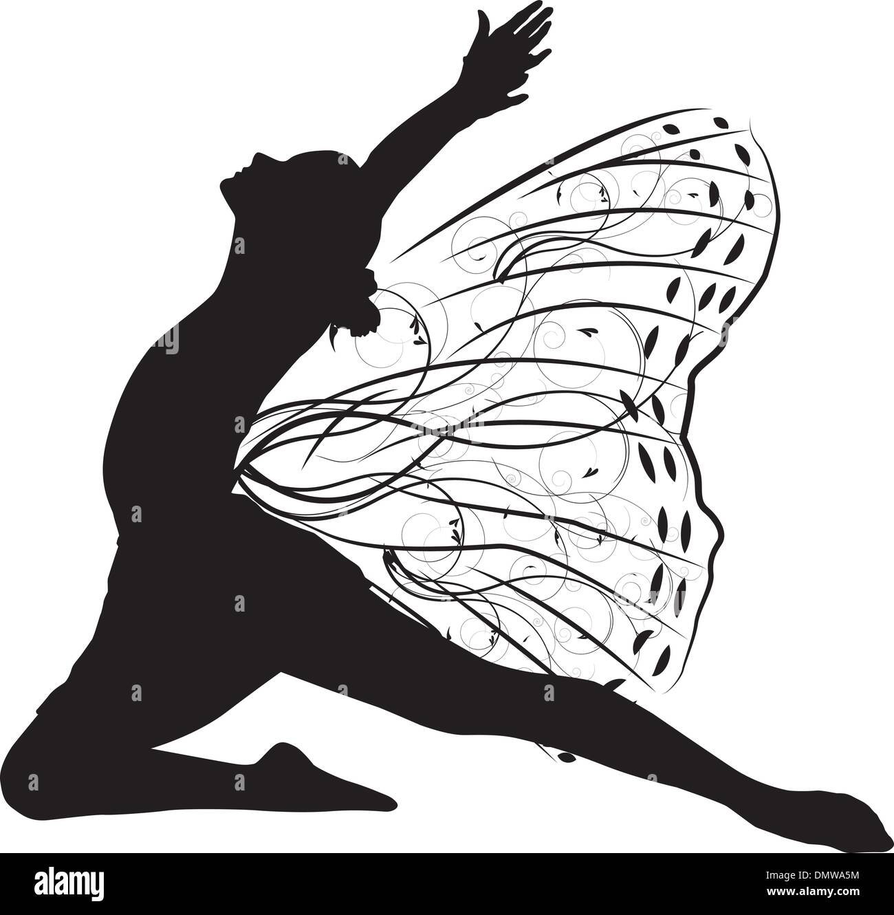 Butterfly dancer - Stock Vector