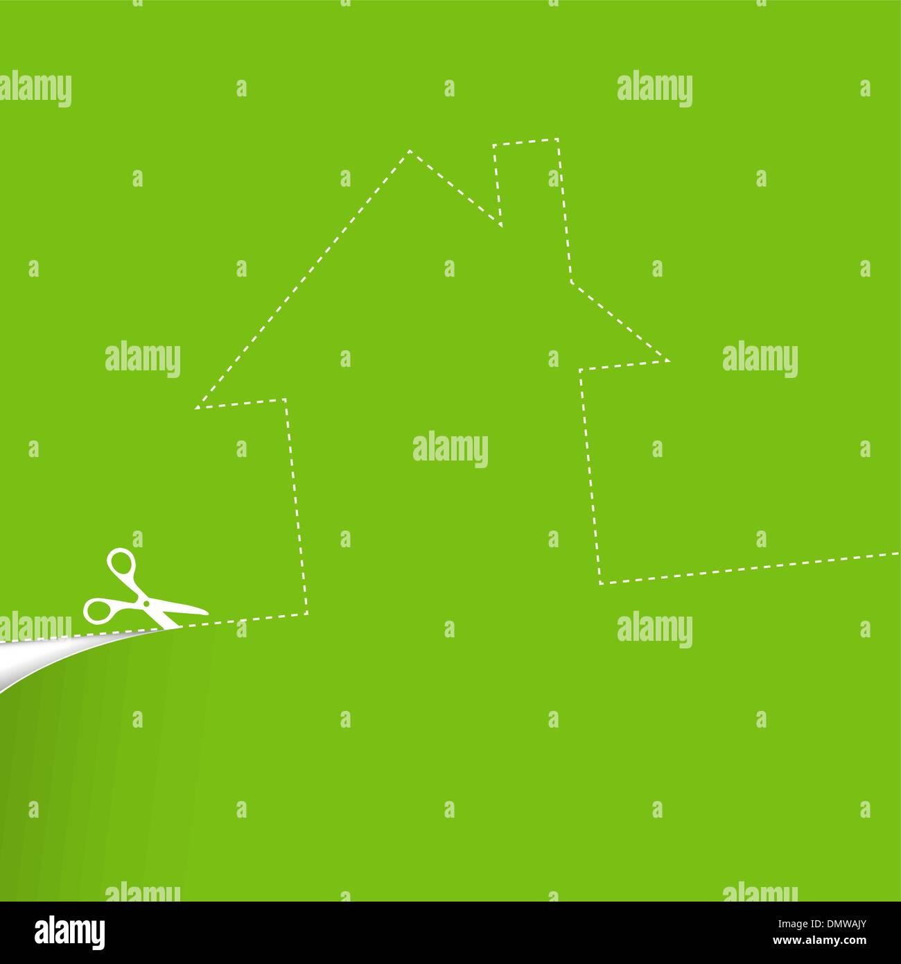Ecological housing concept illustration. - Stock Image