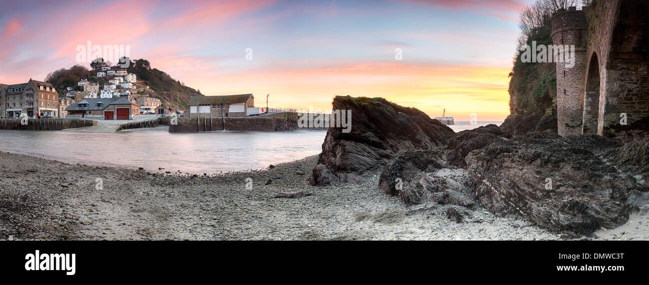 Seaside fishing village of Looe on the south coast of Cornwall Stock Photo