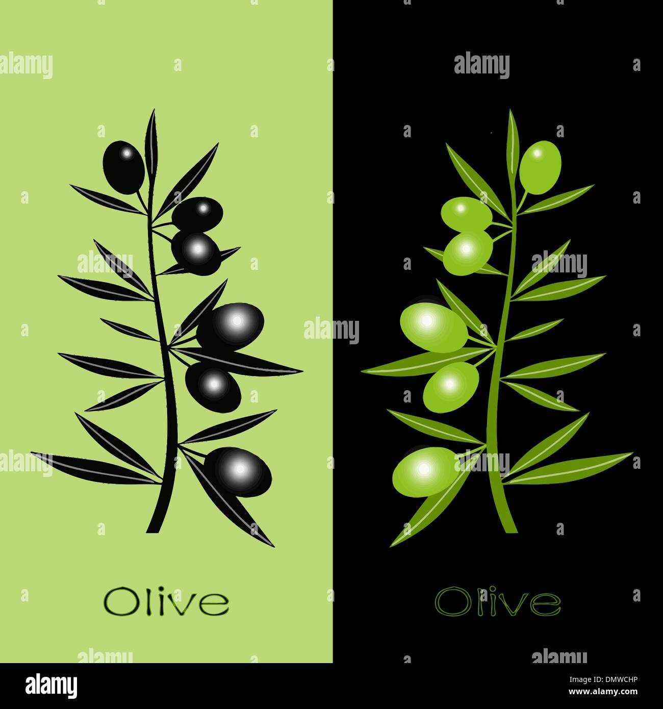 Black Olives Stock Vector Images - Alamy