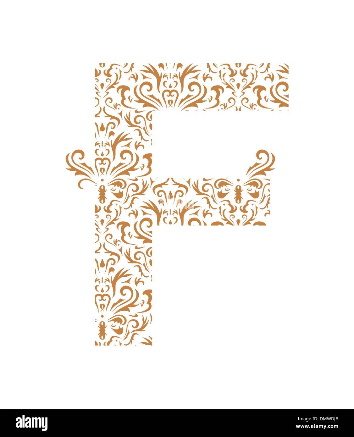 Floral Letter F Ornament Font