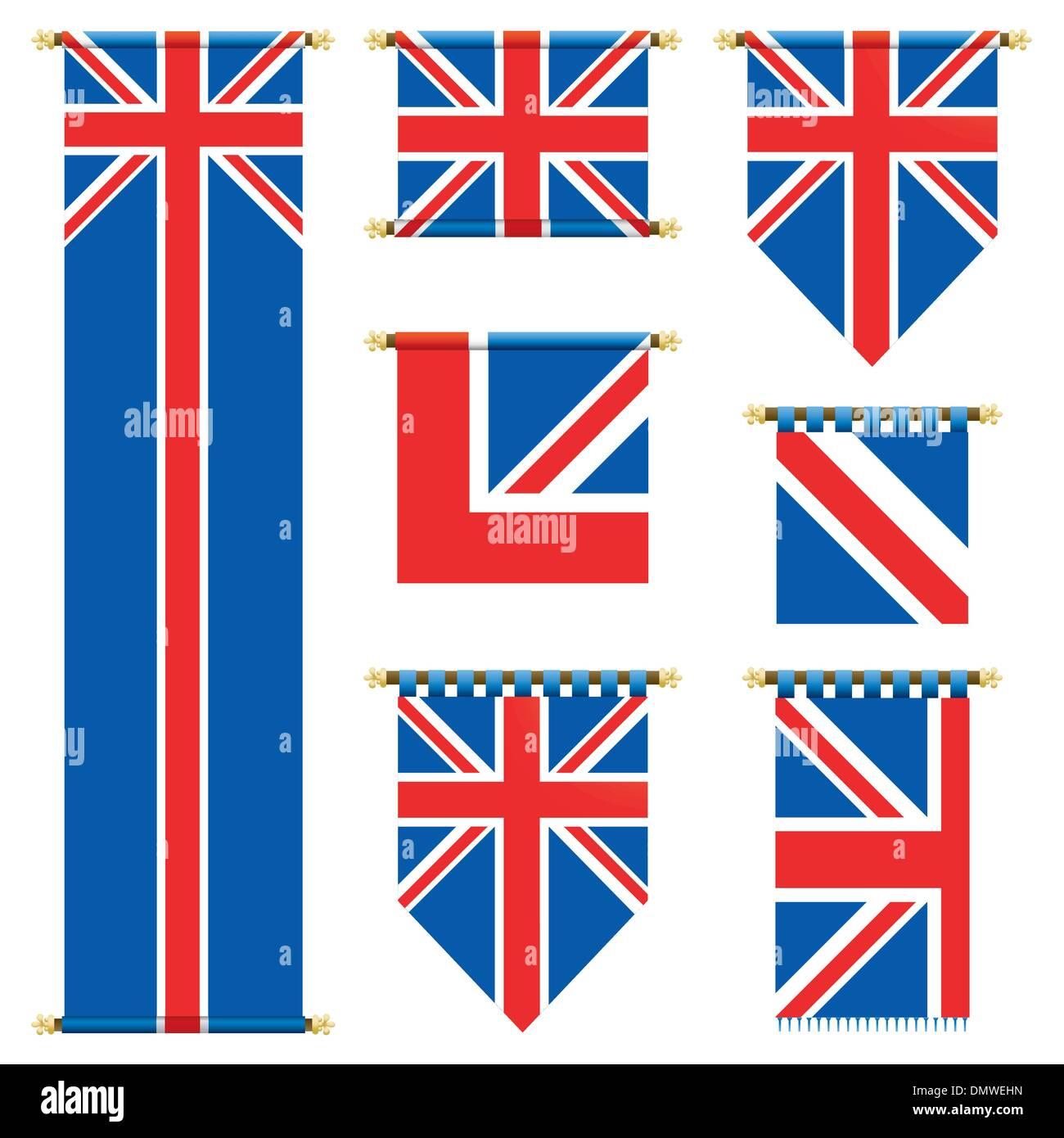 uk banners - Stock Image