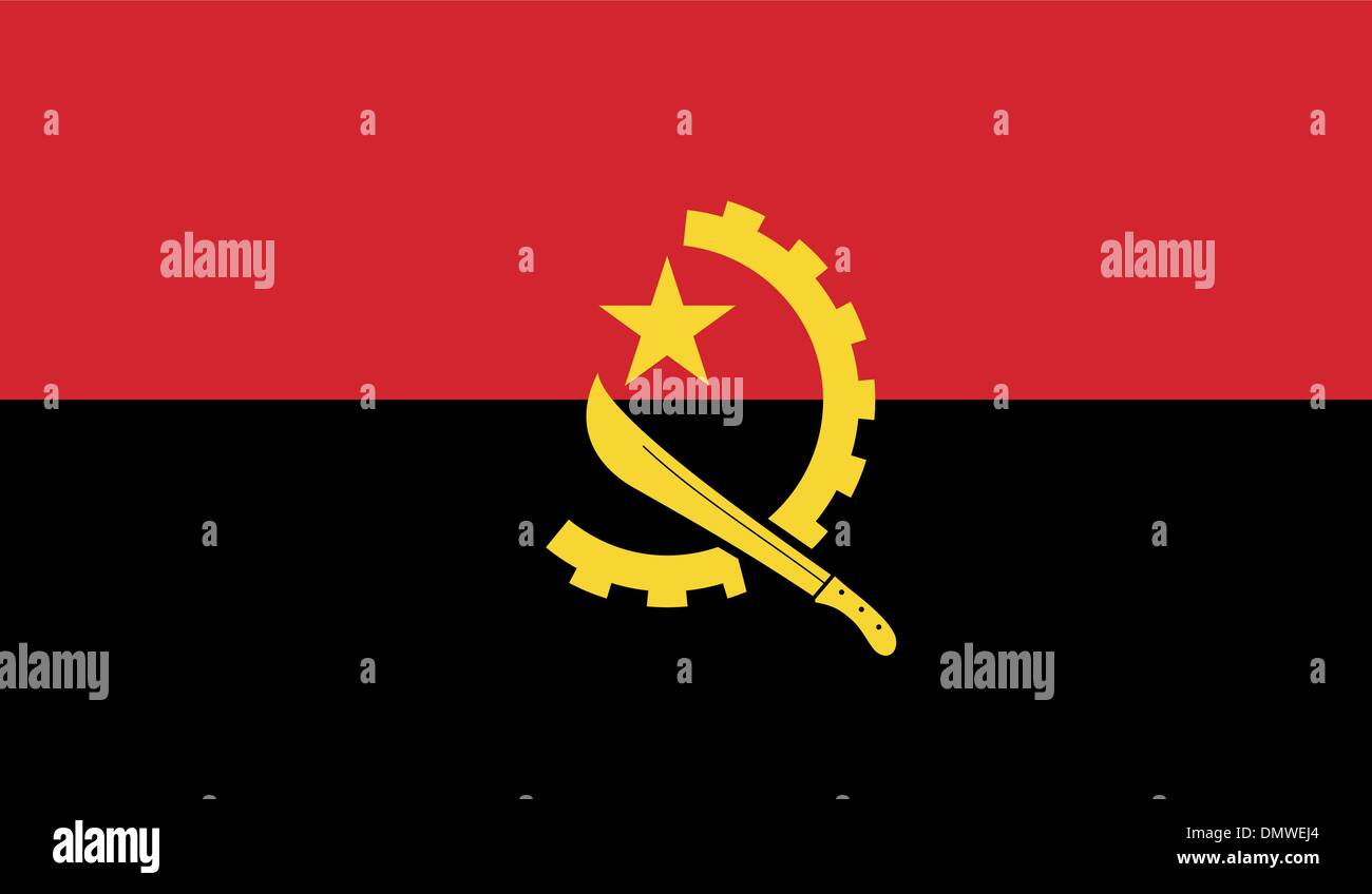 Angola Flag - Stock Image