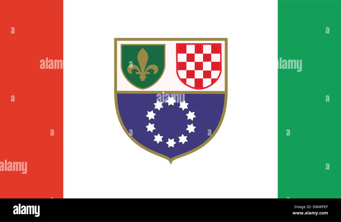 Bosnia and Herzegovina, Federation of Flag - Stock Vector