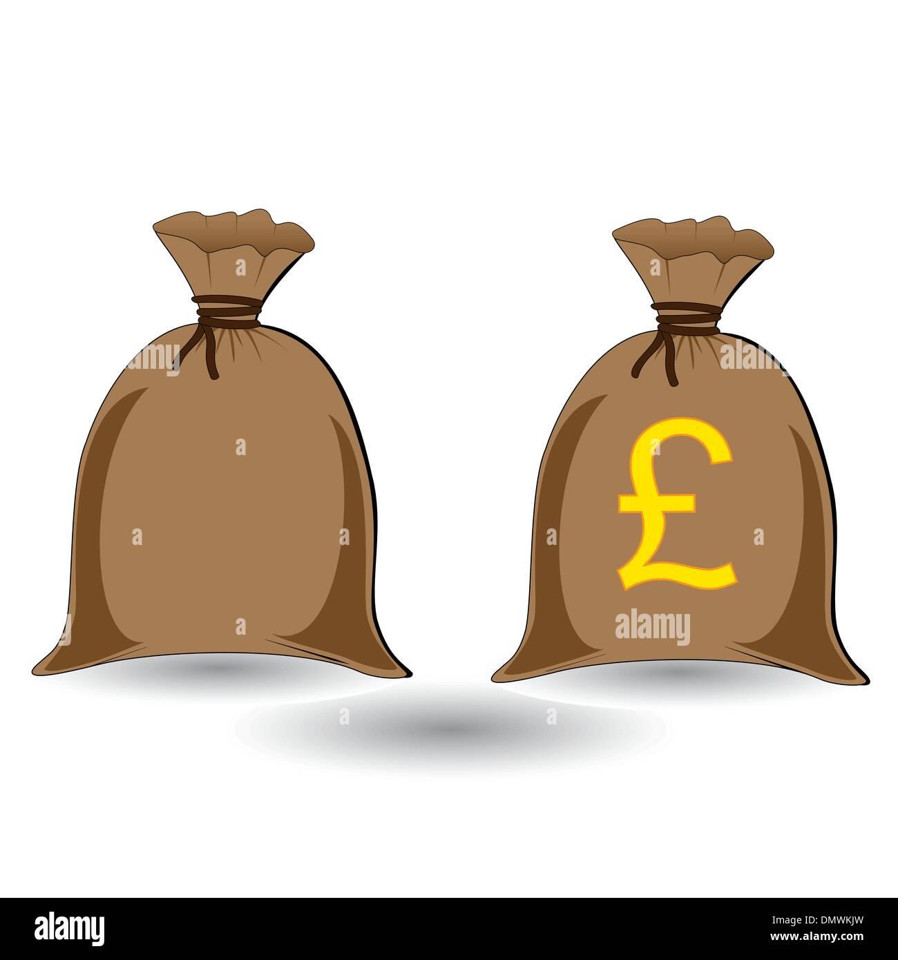 vector of three full money sacks - Stock Vector