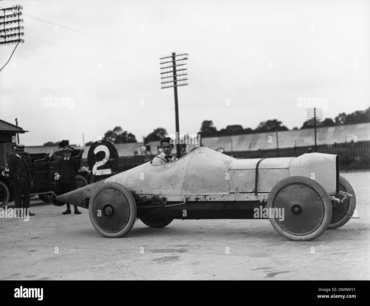 Straker Squire 18.8 litre at Brooklands May 28th 1910 - Stock Image