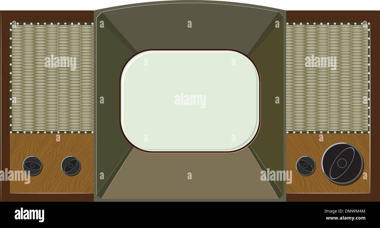 Vector artwork will old TV - Stock Vector