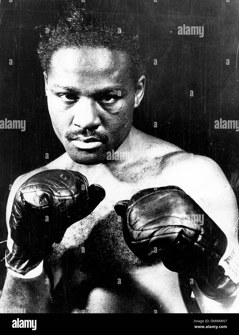 June 1, 1949 - New York, New York, U.S. - EZZARD CHARLES was an African-American professional boxer and former Heavyweight Champion of the world. PICTURED: Portrait of Ezzard before a match. (Credit Image: © KEYSTONE Pictures USA/ZUMAPRESS.com) - Stock Image
