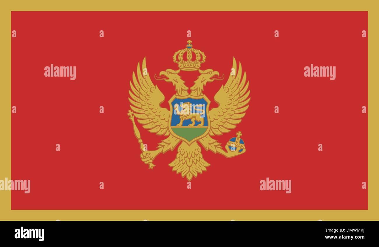 Montenegro Flag Stock Vector