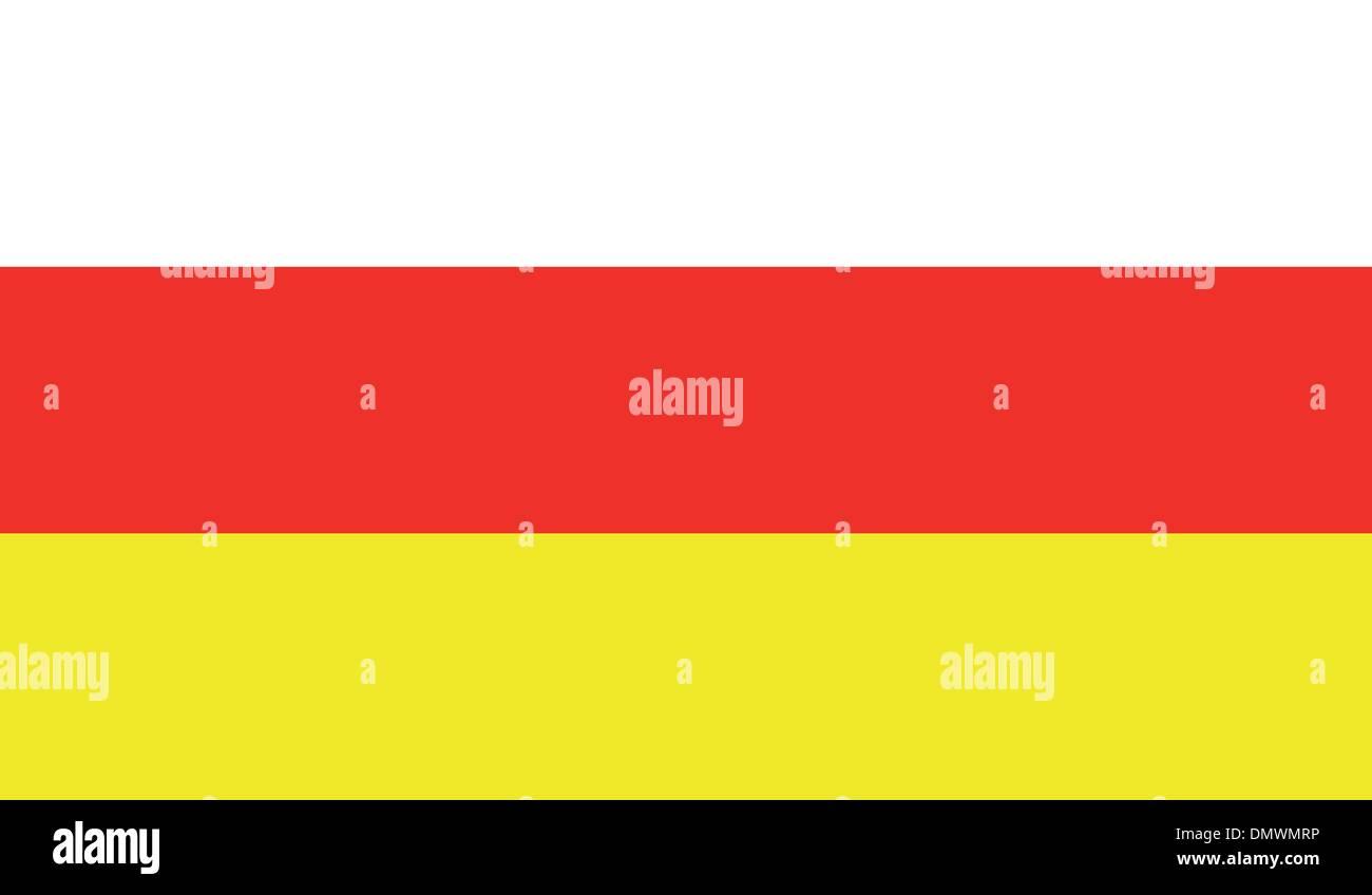 North Ossetia Flag - Stock Image