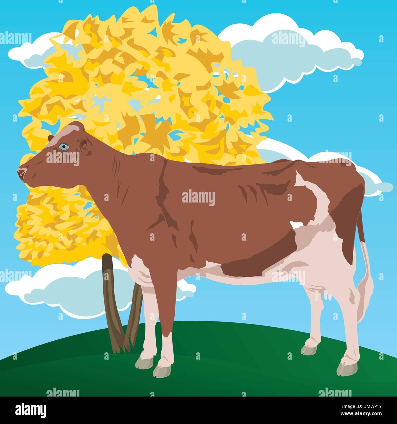 Cow2 - Stock Vector