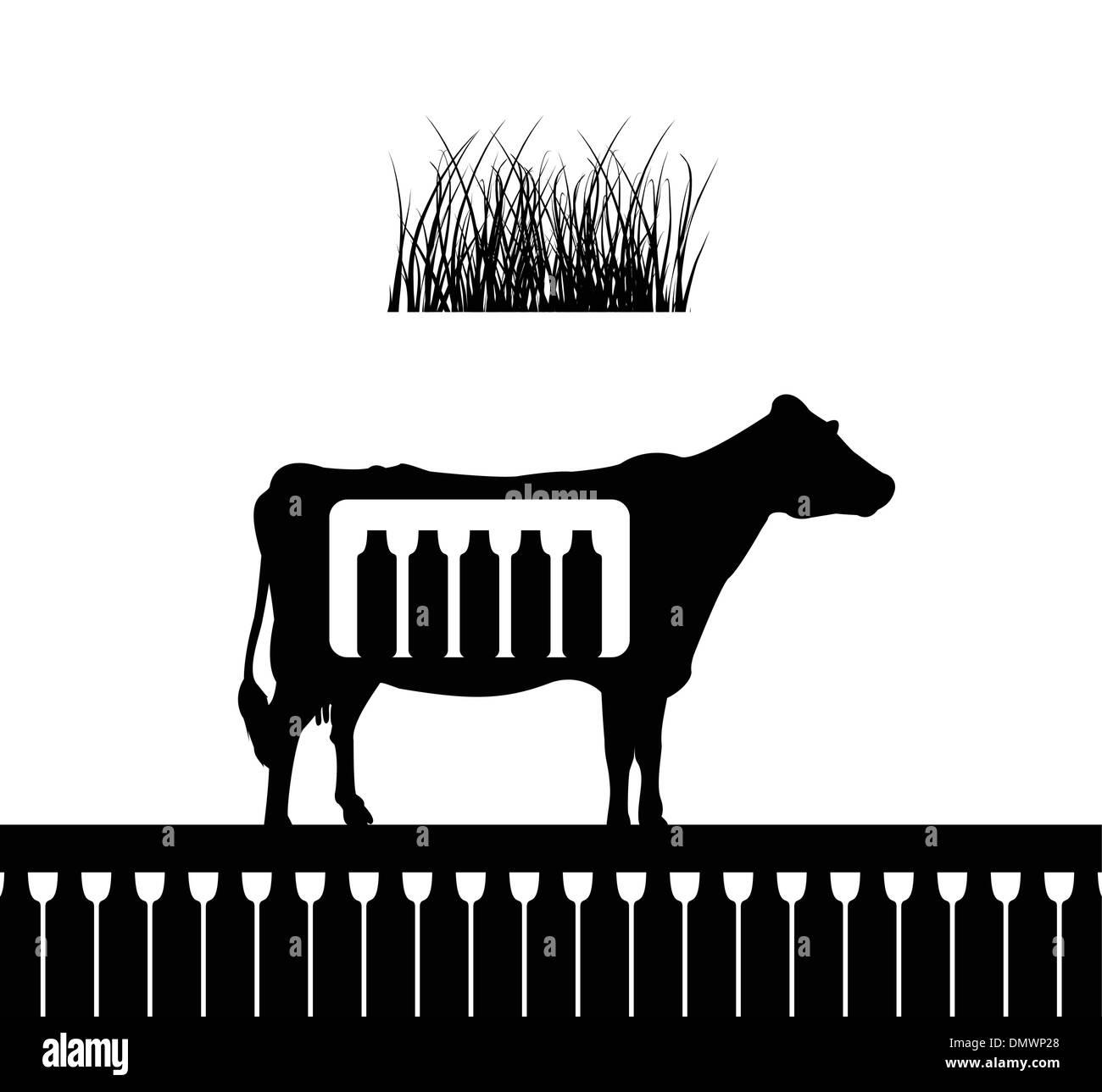 Cow4 - Stock Vector