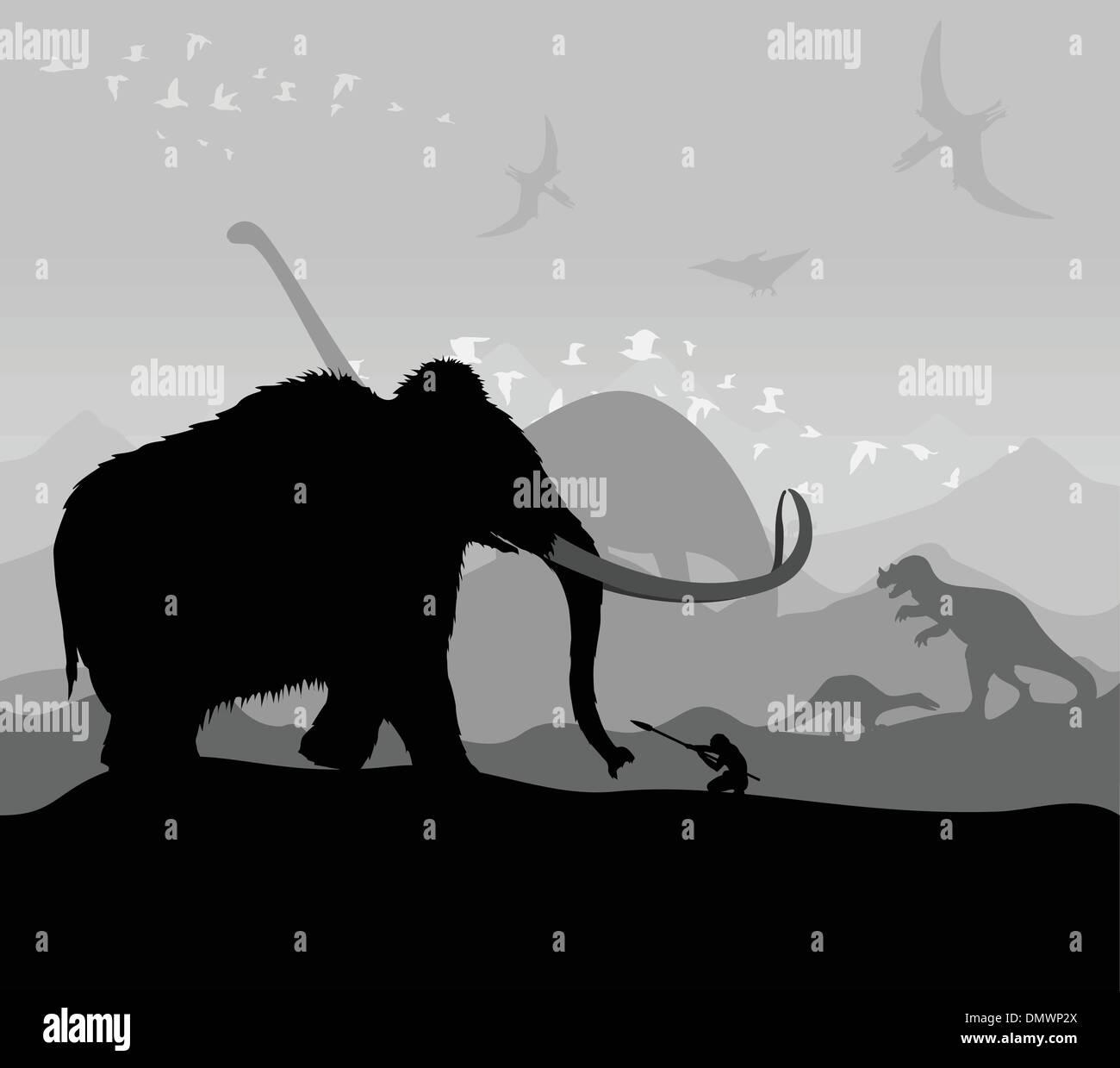 Prehistoric time - Stock Image