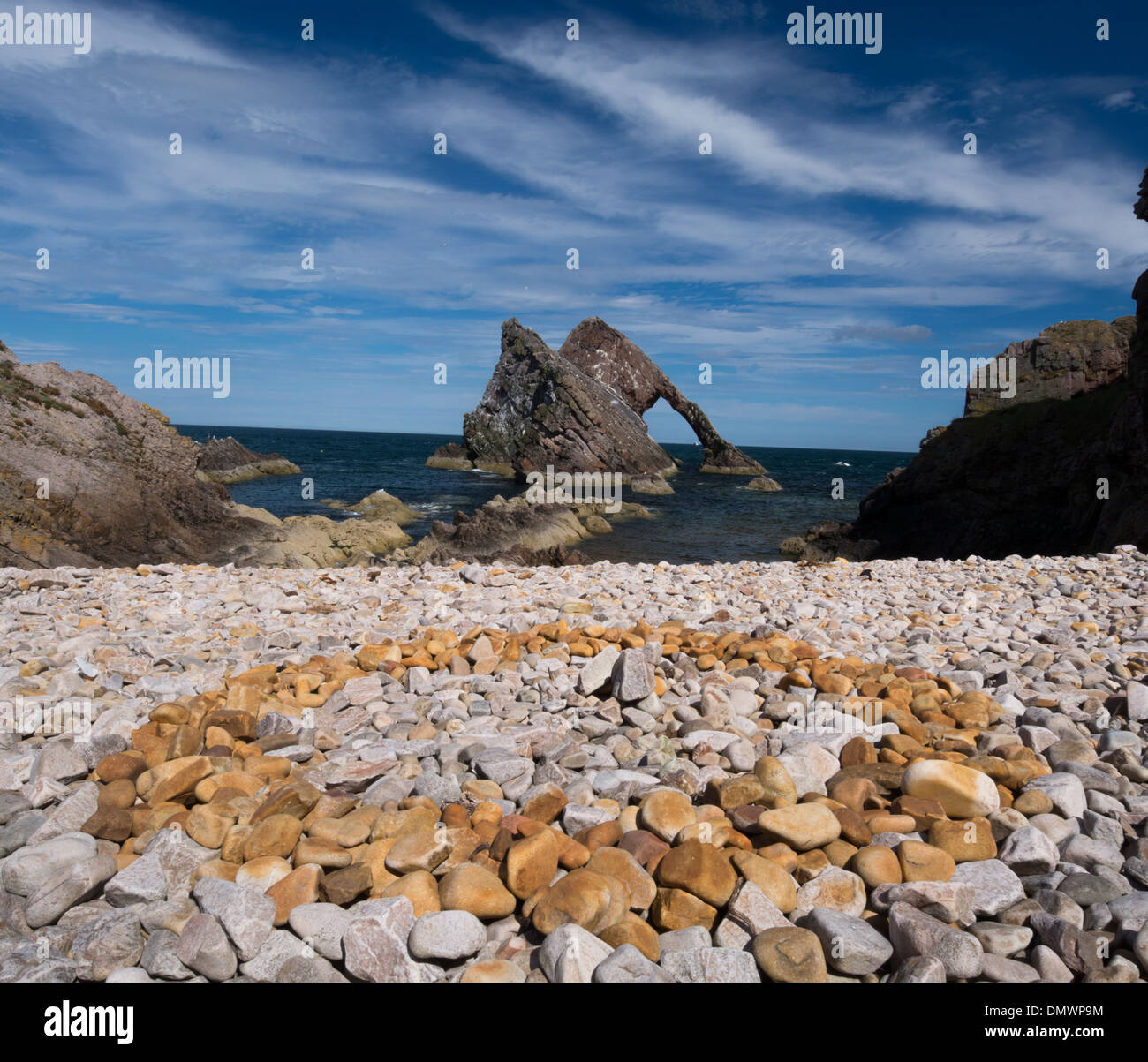bow and fiddle rock portknockie moray - Stock Image