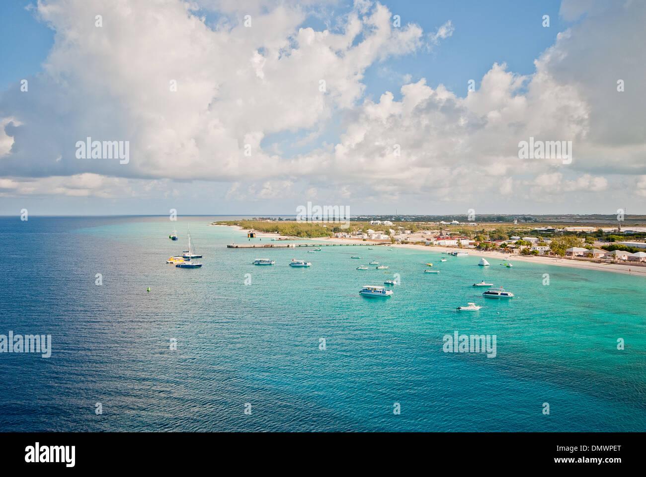 View of the Bahamas island Grand Turk. - Stock Image