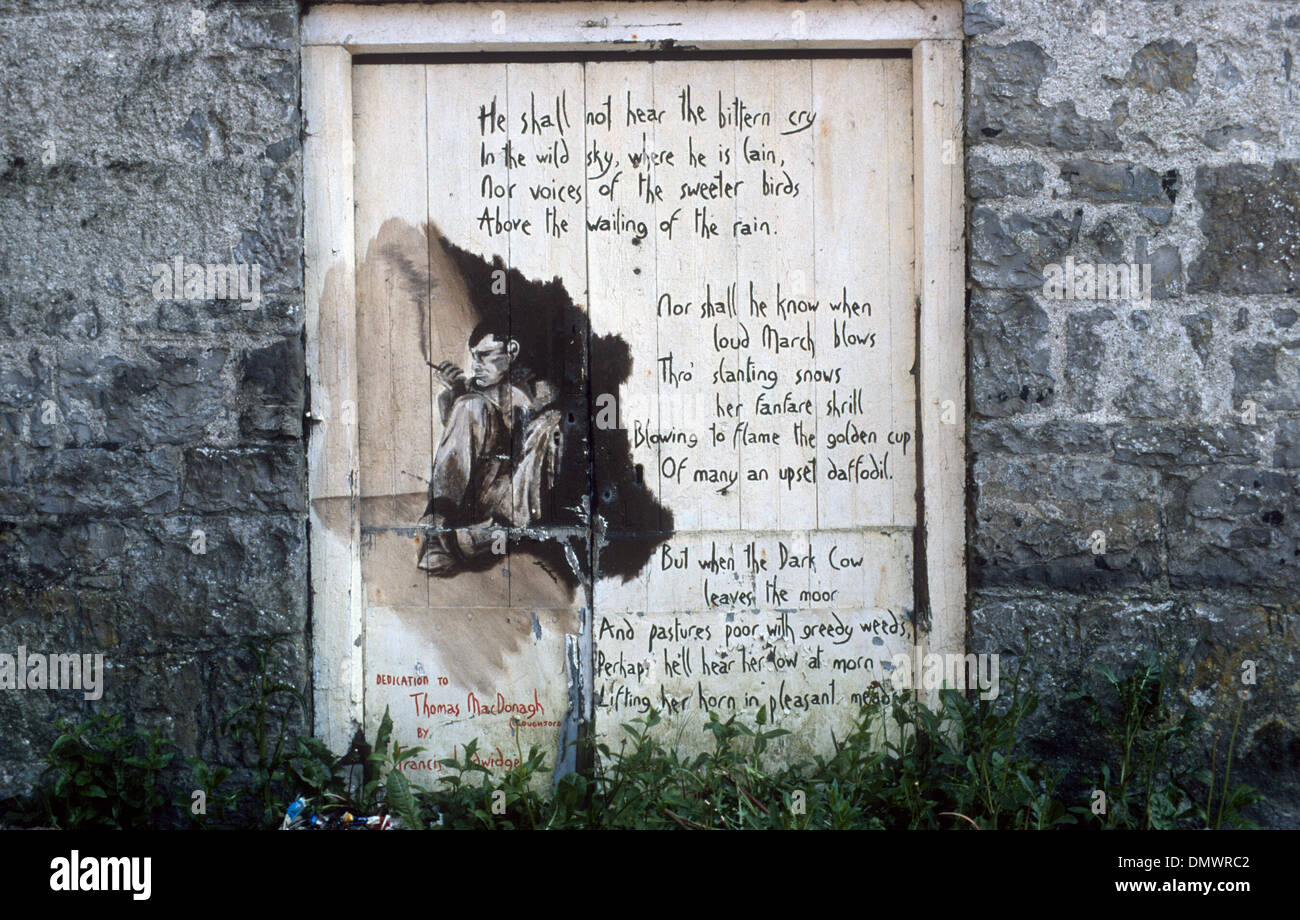 A POEM ON A DOOR IN IRELAND - Stock Image