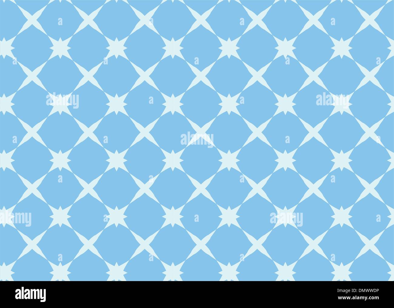 blue seamless vector geometrical pattern - Stock Image