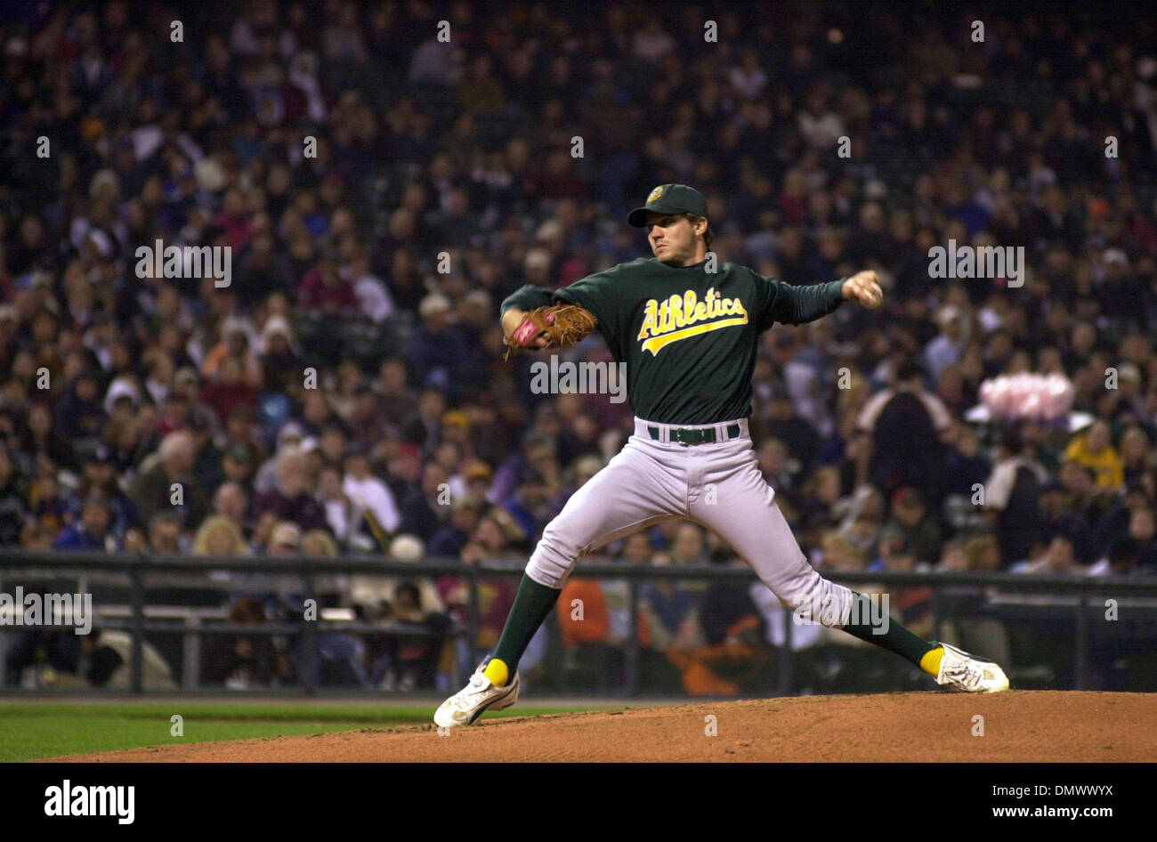 best service 026bc dffe1 Mar 29, 2002; San Francisco, CA, USA; Oakland A's pitcher ...