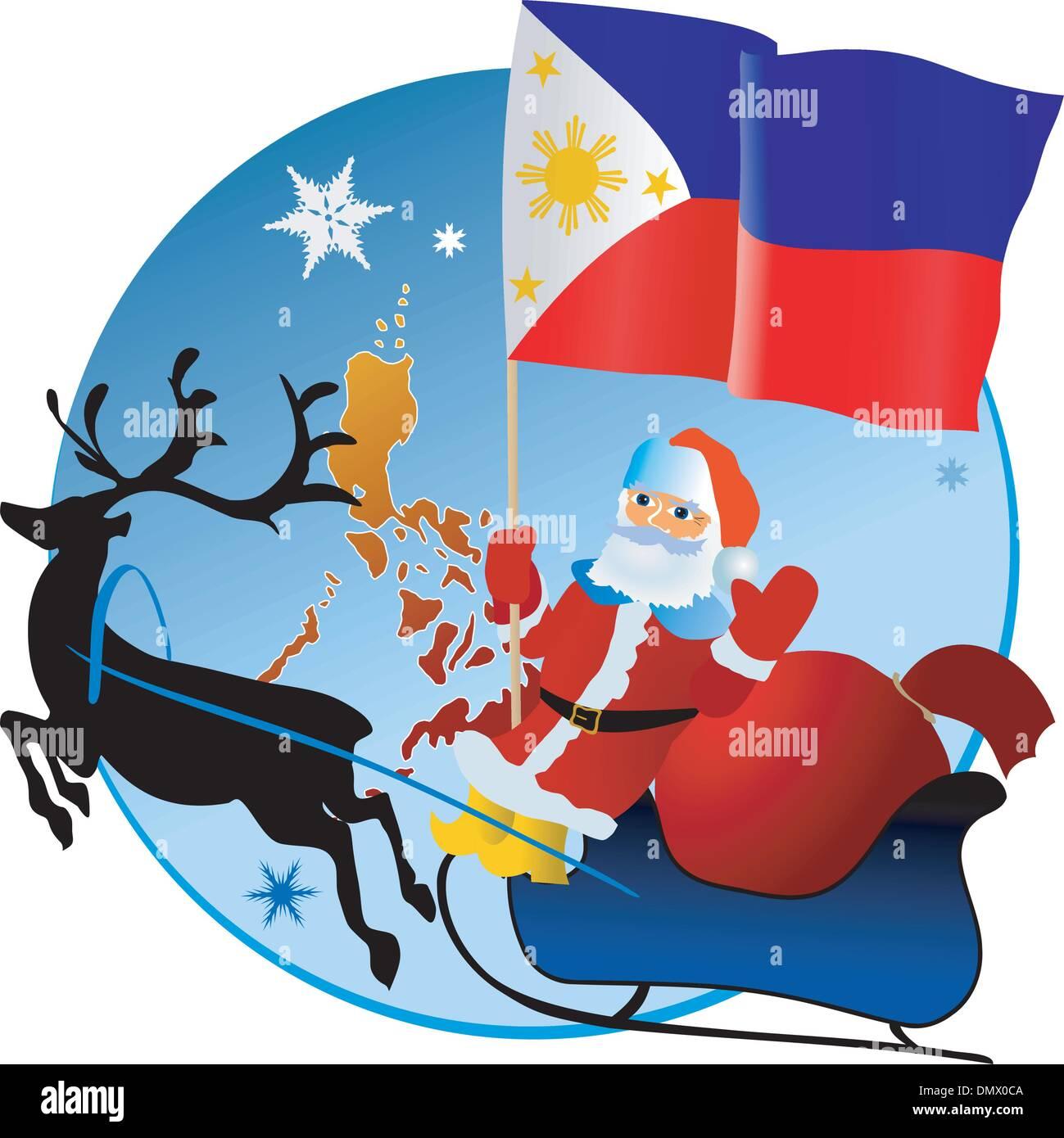 Merry Christmas In Filipino.Merry Christmas Philippines Stock Vector Art