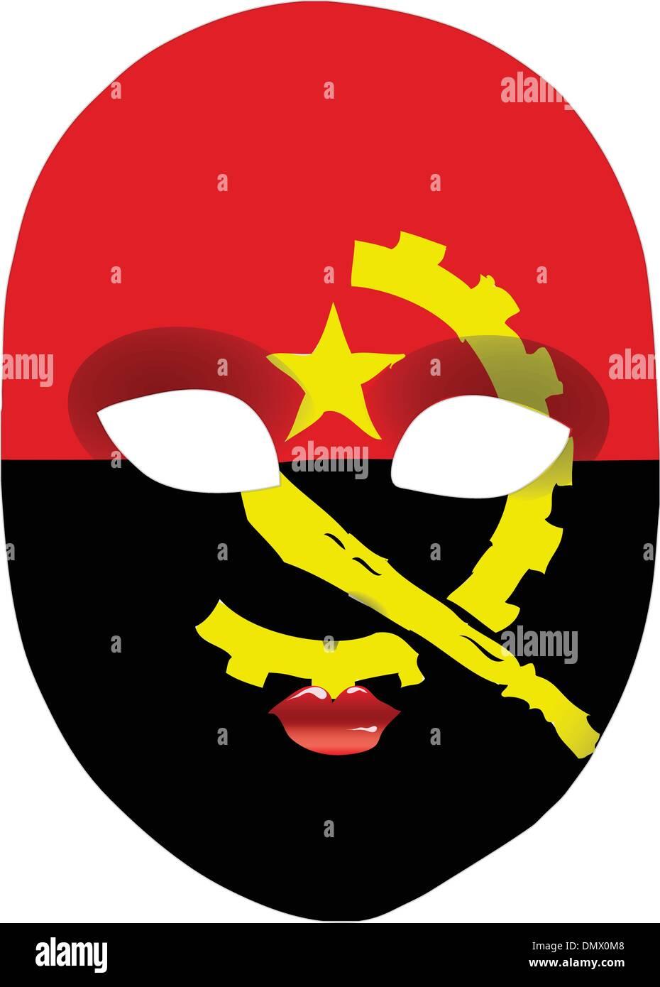 Mask Angola - Stock Vector