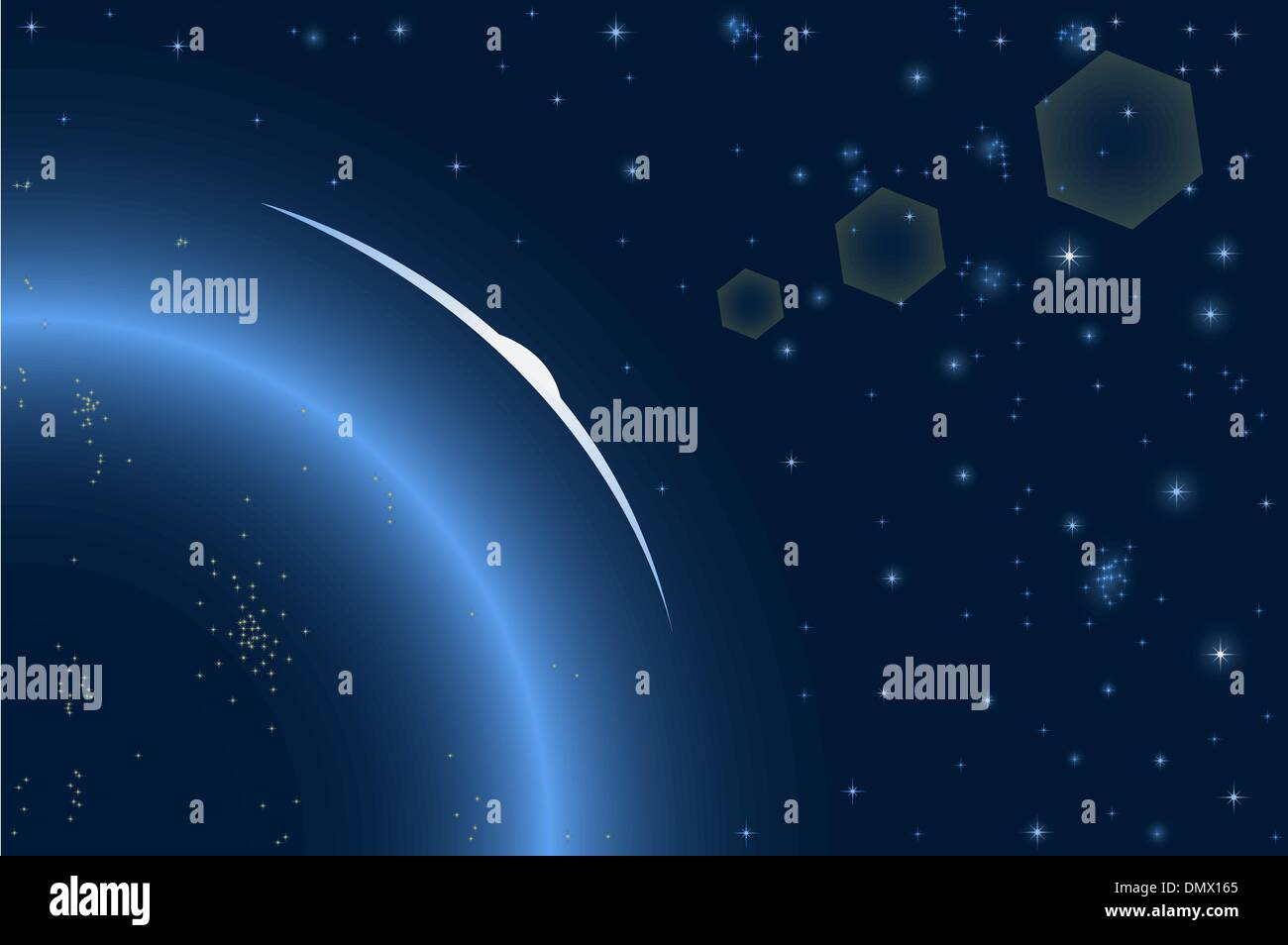 Vector illustration of space - Stock Image