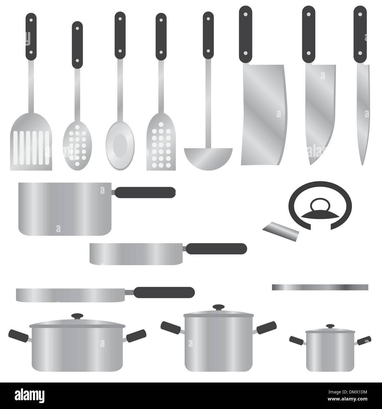 Set of kitchen utensils. - Stock Vector
