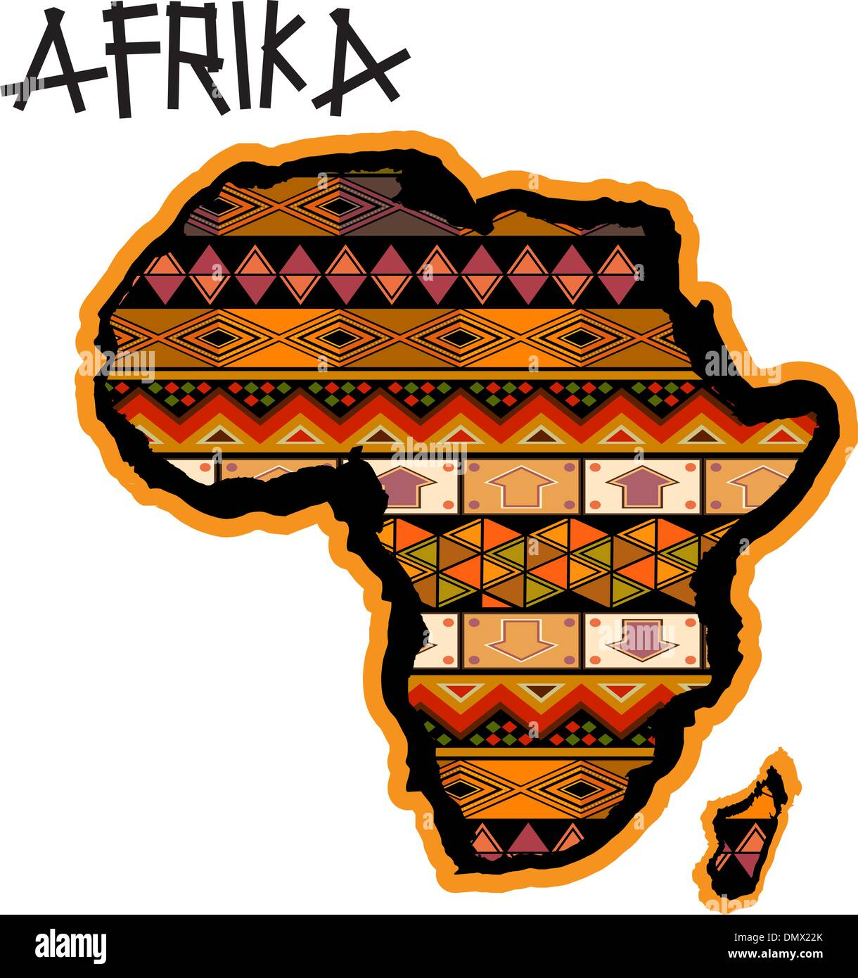Map Of Africa Art.Africa Traditional Map Stock Vector Art Illustration Vector Image