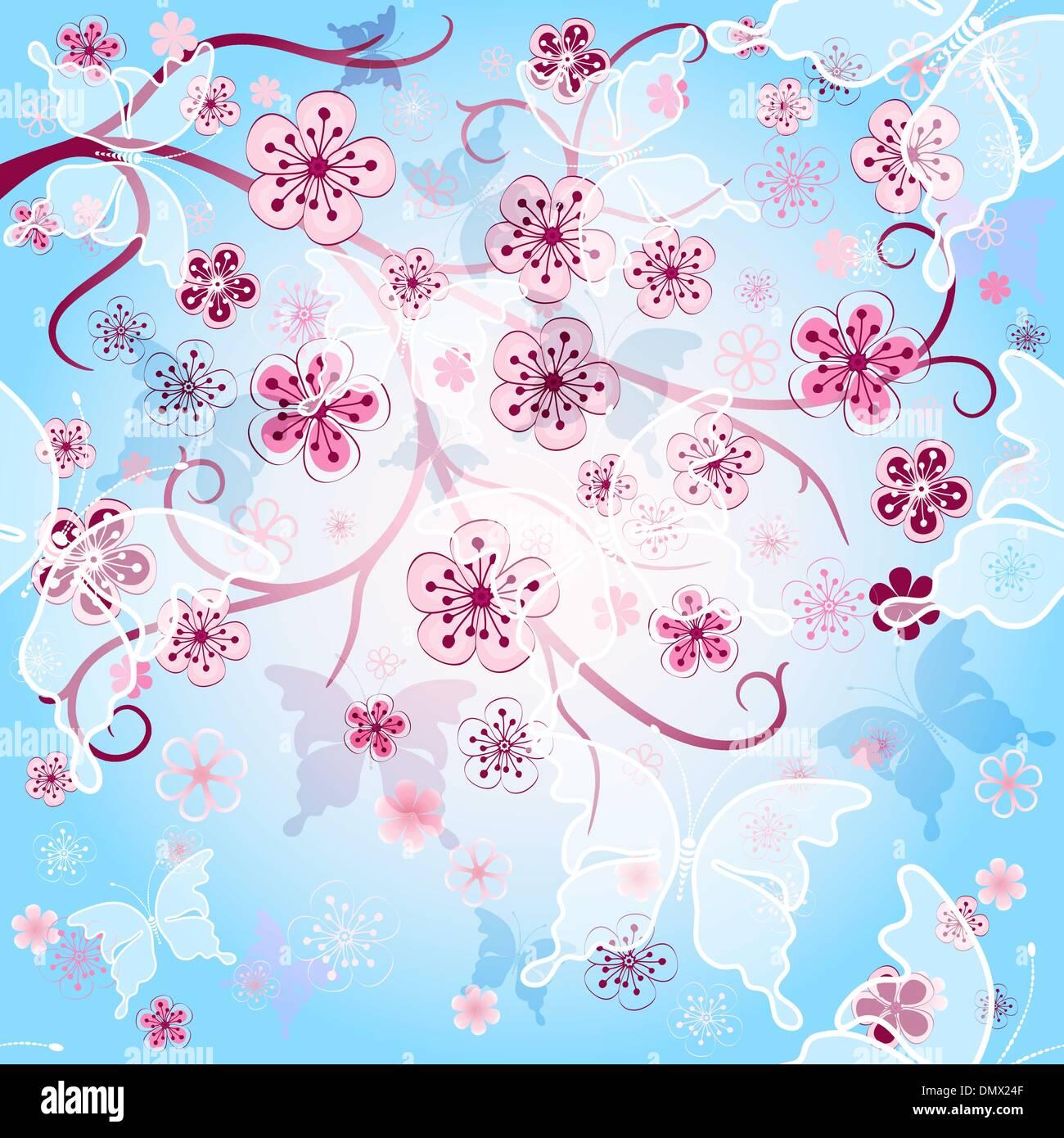 Spring gentle background - Stock Image