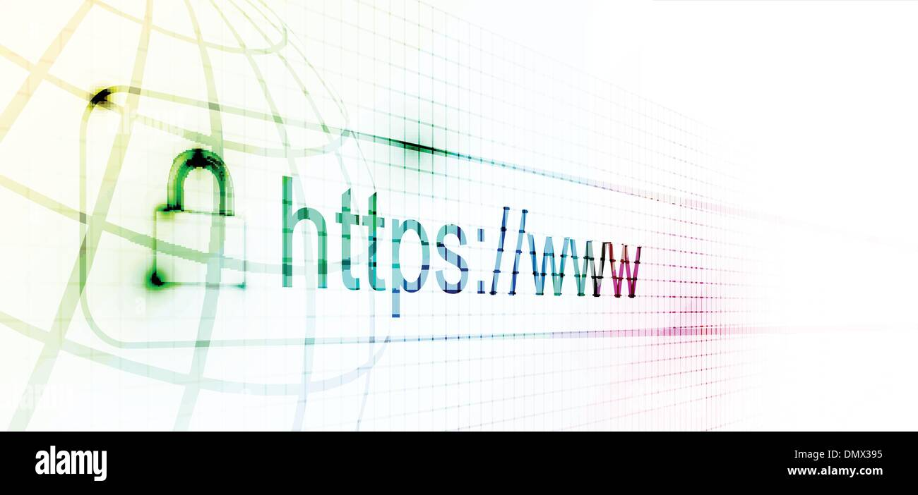https protected web page - Stock Image