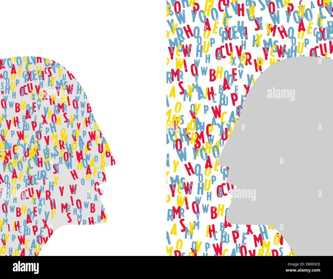 Vector People Talking - Dialogue Stock Vector