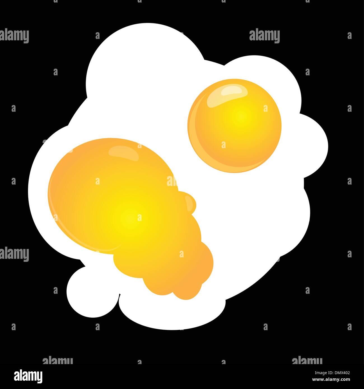 Scrambled eggs - Stock Vector