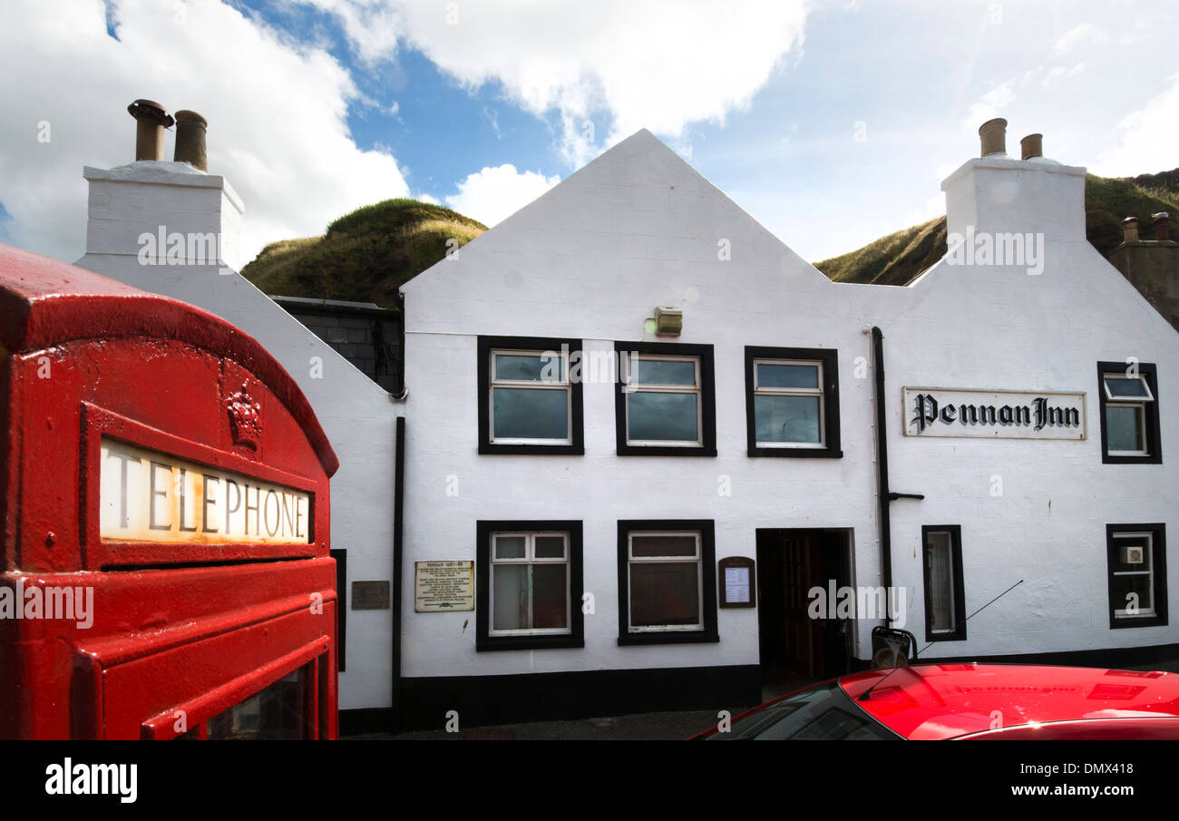 pennan telephone box local hero moray aberdeeen - Stock Image