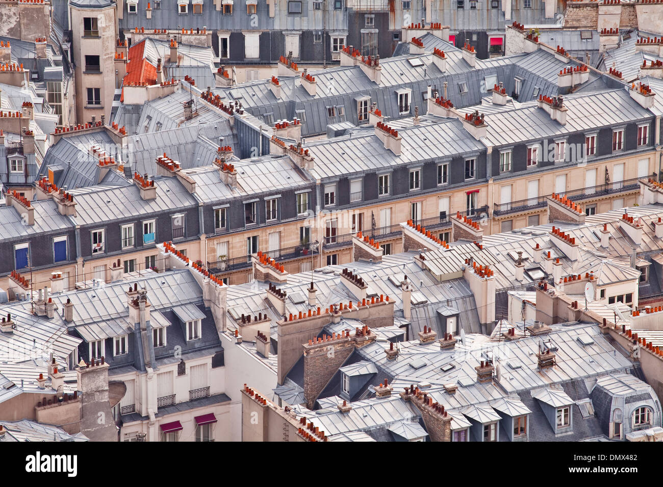 The rooftops of Paris from the Eiffel Tower. - Stock Image