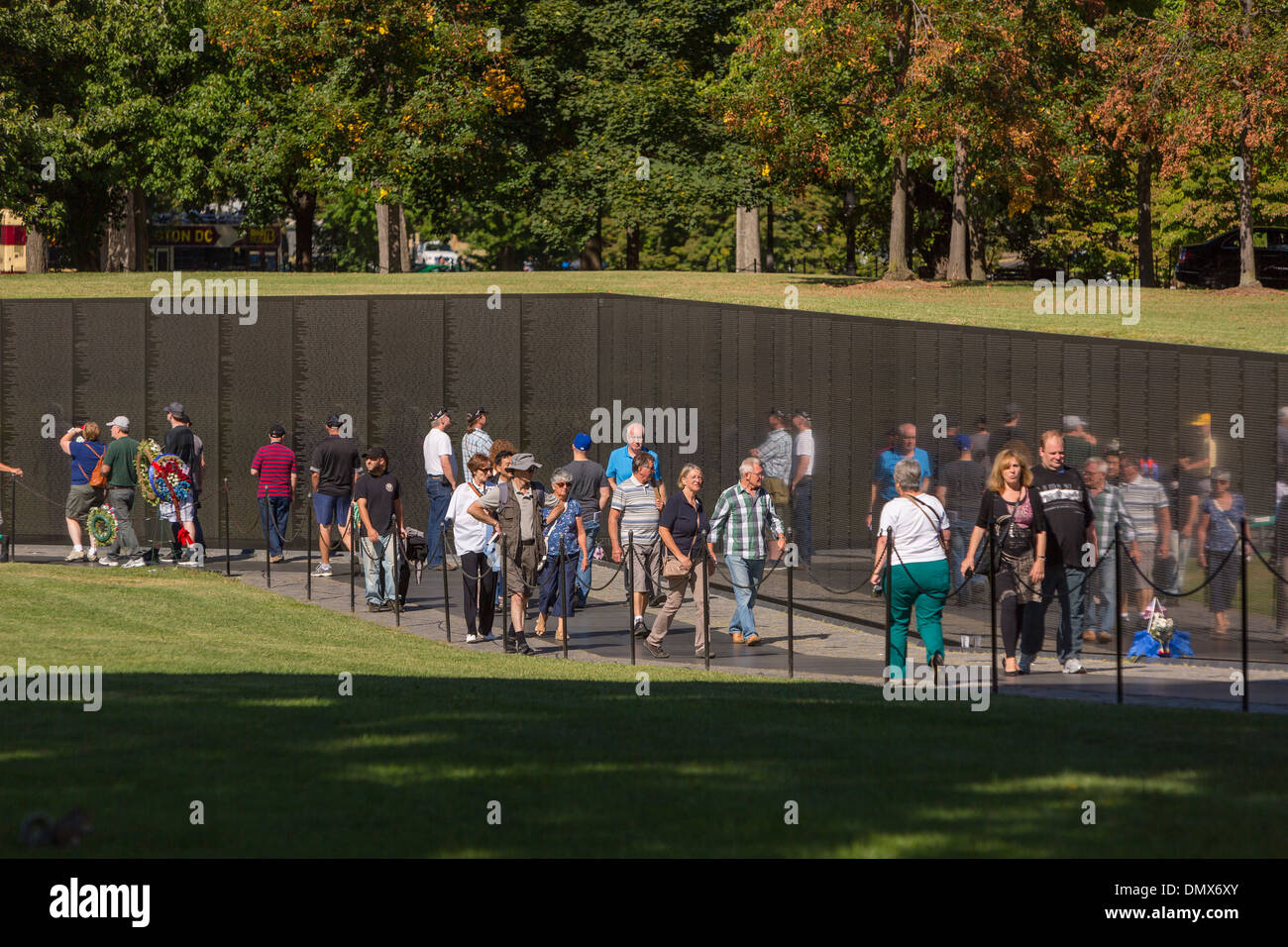 WASHINGTON, DC, USA - Vietnam Veterans Memorial. - Stock Image