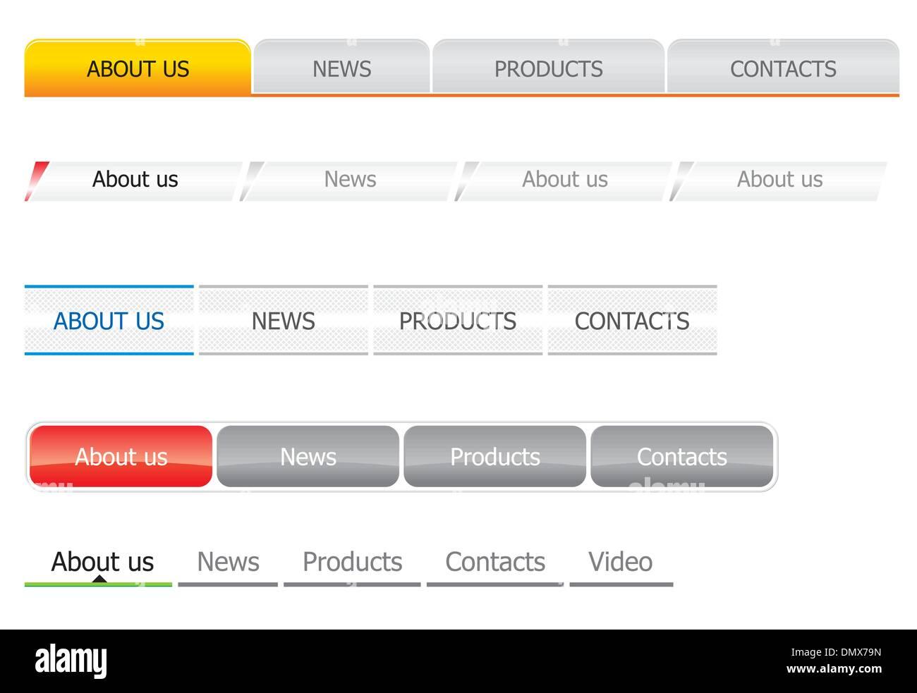 Navigation bar templates - Stock Image